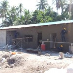 HA Thuraakunu - Ongoing plastering works, Facility building