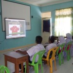 Th Omadhoo - Installation of Smartboard in AV Room and TV in Classroom 2