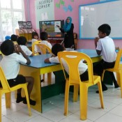 Th Omadhoo - Installation of Smartboard in AV Room and TV in Classroom 3